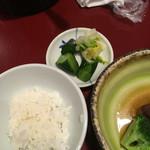 長崎卓袱浜勝 - ごはん(おひつから)と香の物