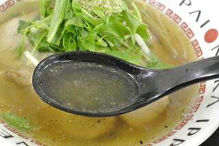だしと麺 - だしと麺・飛魚だしラーメン スープ(2016.04)