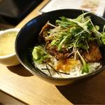 MeatBle - 牛ロース肉の炭火焼き丼☆