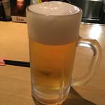 ことぶき - ドリンク写真:生ビール ジョッキ 580円。