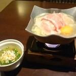 鮨 有楽 - 小鍋と蒸し椀