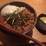 """いなせ 寅""""衛門 - 半熟玉子の鶏そぼろ飯"""