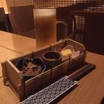 """いなせ 寅""""衛門 - 生ビールとお通し"""