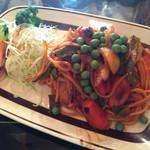 グリーン - イタリアンスパゲティ ランチセット サラダ、コーヒー付き 650円税込