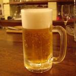 501630 - カウンターで先ずは生ビール♪