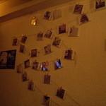 カームス - 店内奥の壁面ディスプレイ