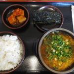 一平ちゃん - クッパ定食 (はるさめトッピング) 700円 (2016.4)