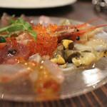 名駅 ダイニング SILVA - 鮮魚と貝のカルパッチョ盛り ハーフサイズ☆