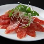 中国料理 ロータスダイニング - 中華風ソーセージ。おつまみに最適。
