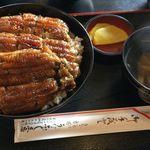 50111015 - うなぎ丼(上)1900円                       肝吸い付き