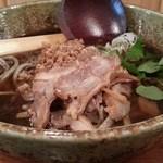 粗挽き蕎麦 トキ - 肉そば冷 2016.4