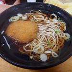 ふじ - コロッケそば(370円)