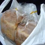 土切製パン  - 概観(仄かに結露)