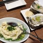 貝と白ワインのバル KAKIMARU - なめらか自家製ポテトサラダと牡蠣のヴァポーレ