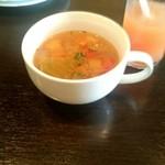 50120750 - スープと結構飲んでしまったジュース