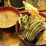 50123037 - 「たたき・天丼」天丼とみそ汁