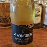 スコティッシュ パブ ブリッジェンド - ひょっとするとイギリスのパブでビール以上に愛されているかもしれないサイダー(シードル)です。りんごのスパークリングワインですね。当店ではイギリスNo.1シェアのストロングボウを扱っております。