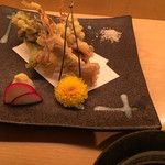 50124803 - 揚げ物:蛍烏賊とたらの芽の天ぷら