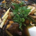 ゑがほ食堂 - 山菜ときのこがたっぷりです。