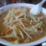 ニコニコ食堂 - 料理写真:大量のもやしと人参、豚バラ
