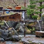 峠の茶屋・最上屋 - 店の前にある『峠の力水』(2016年4月)