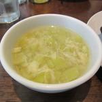 青菜 - フカヒレ麺に付くスープ