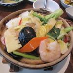青菜 - 海鮮あんかけ土鍋ご飯 +300円