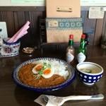 すいらて - かぼちゃとひき肉のカレーセット850円です(2016.4.23昼)