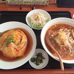 中華料理同源 - 料理写真:160423 天津飯&味噌ラーメン
