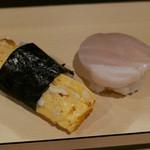 鯛壽司 - たまご/貝柱