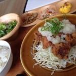 50146320 - 若鶏の竜田揚げおろし塩ポン酢定食②