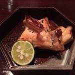 翁 - ⑤鉢肴(河豚の照り焼き黒胡椒で)