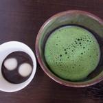 日本料理 花坊-hanabo- - お抹茶と胡麻汁粉