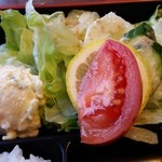 Sumibiyakinikuyamato - 炭火焼肉やまとのサラダ。