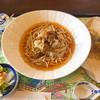 ビオトープ芽吹き屋 - 料理写真:きのこづくし稗麺(ひえめん)830円