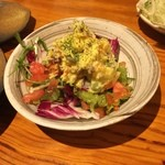 九州鳥酒 とりぞの 六本木 - サツマイモのポテトサラダ