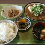 定食家 - ホルモン煮定食600円