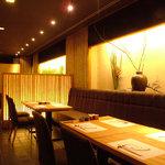 福亭 - レストランのブース席。最大18名様までご用意できます