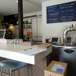 Ramen&Bar ABRI - 2016年4月10日(日) 店内 カウンター席