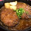 ハンバーグ カステリア - 料理写真:ジャポネソースとニンニクソースのWハンバーグ。柔らか~いハンバーグ。