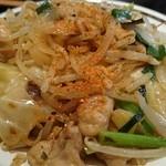 五百川食堂 - モツと野菜炒め。あっぷ。