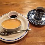 カフェスタイルコジロウ - エチオピア濃厚680円プリン350円