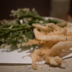 和人良 - 白海老と山菜の天ぷら