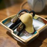 佳肴みを木 - 蝦蛄と山菜 からし味噌