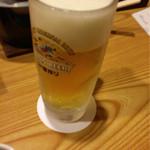 上畑温泉 さわらび - 生ビール 2016.04