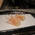 天ぷら うらかみ - 海老の頭
