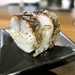 酒商 熊澤 - い草製麺の炙り鯖ずし