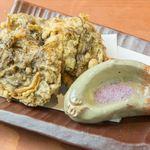 沖縄料理としゃぶしゃぶのお店 赤瓦 - もずくの天ぷら
