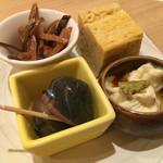 鮨 ほまれ - お通し4種盛