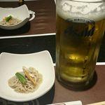 Mitsuoki - ビールと付きだし